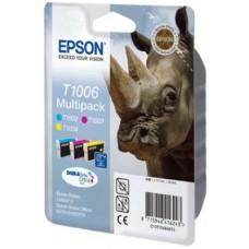 Epson C13T10064010 Bläckpatronspaket färg (cyan, magenta, gul)