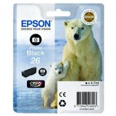 Epson C13T26114010 bläckpatron fotosvart nr 26