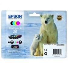 Epson C13T26164010 Bläckpatronspaket BK/C/M/Y nr 26