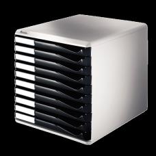 LEITZ Blankettbox A4 10 Lådor Svart , 52810095