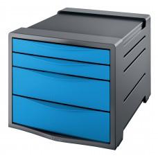 ESSELTE Förvaringsbox Europost 4 Lådor Blå , 623961