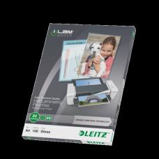 LEITZ Lamineringsficka A4 UDT 80 mic. 100/ask , 74780000