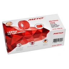 Meto 9506156 prismärkningsetiketter röda 22 x 12 mm, 1-radiga